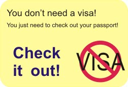 You won't need a visa to come with us. Just check out your passport dates.